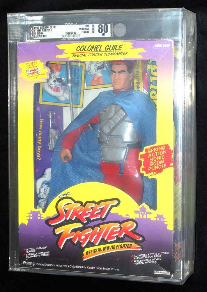 Street Fighter M Bison 12 Salesman Sample 1993 Gi Joe Hasbro Cib