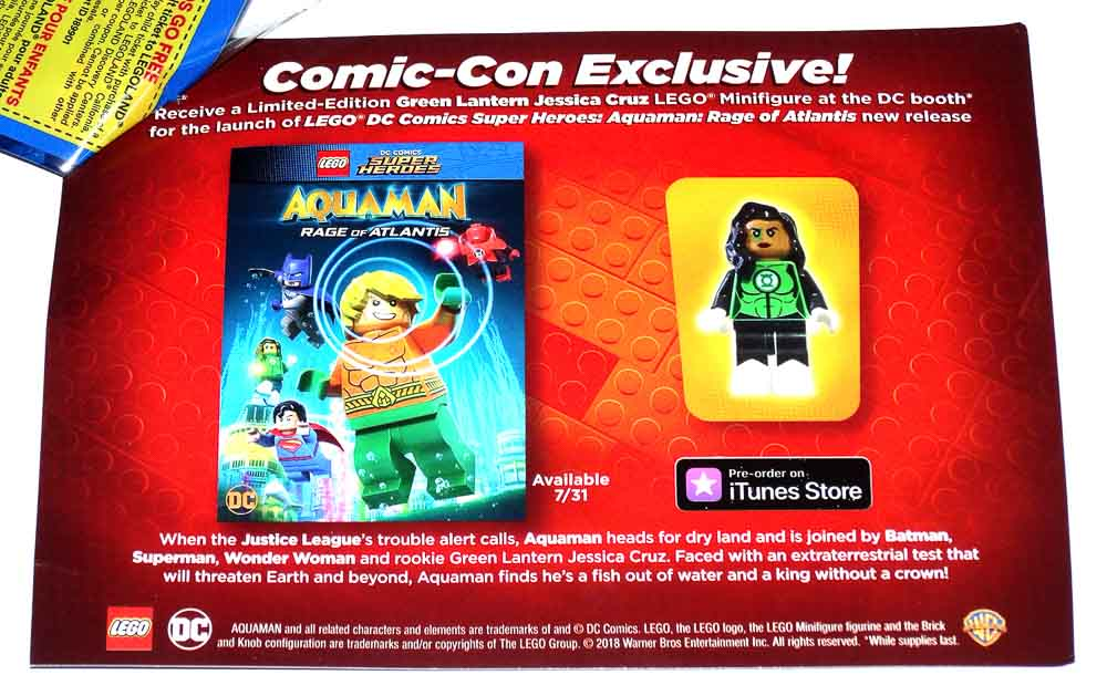 SDCC Comic Con 2018 Lego DC Green Lantern Jessica Cruz Mini Figure Exclusive