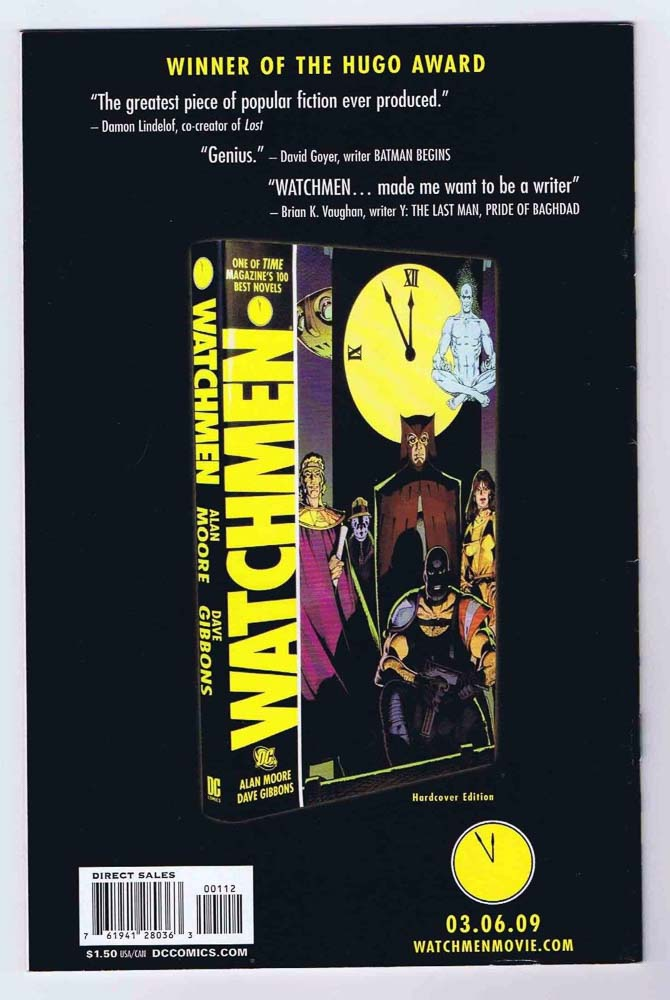 Watchmen #1 NM- 2nd Print Variant Signed w/COA Dave Gibbons 2008 DC Comics