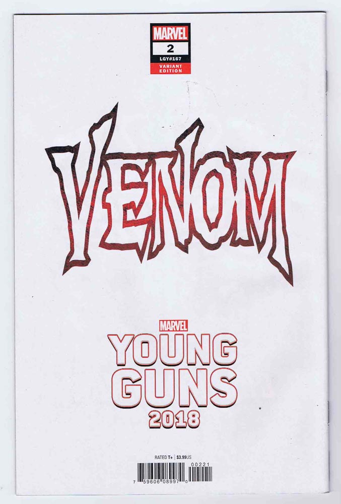 Venom #2 Young Guns Variant VF/NM Signed w/COA Donny Cates 2018 Marvel  Comics