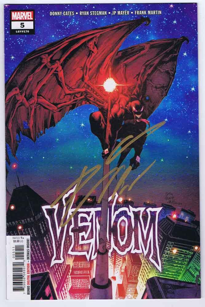 Venom #5 Near Mint- Signed w/COA Donny Cates 2018 Marvel Comics