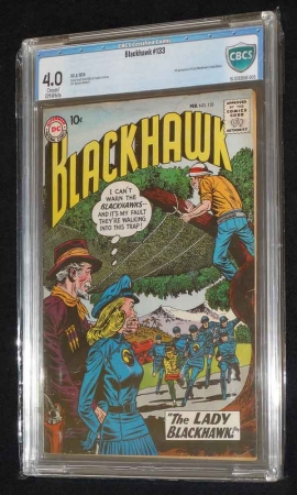Blackhawk #133 CBCS 4.0 CTOWP 1st Appearance of Lady Blackhawk Zinda Blake DC