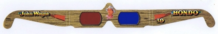 Hondo John Wayne 3D Paper Glasses 1991 Unused Red Blue Batjac Productions