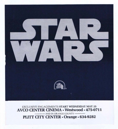 "Star Wars 1977 US Advance Promotional Mini Flyer 6 3/4"" X 7 1/2"" Westwood Unused"