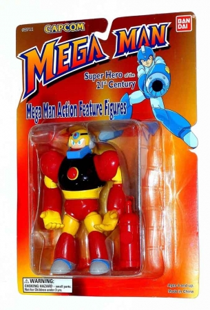 Mega Man Series 1 Gutsman MOC/Sealed on Cardback 1995 Bandai/Capcom
