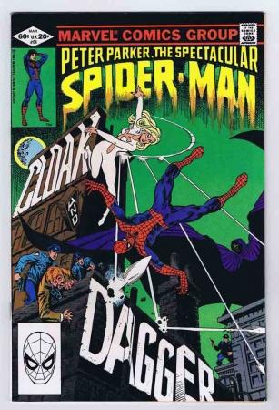 Spectacular Spider-Man #64 FN/VF 1st Appearance Cloak & Dagger 1982 Marvel