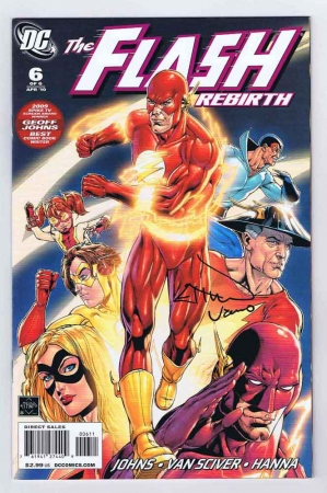 Flash Rebirth #6 VF/NM Signed w/COA Ethan Van Sciver 2010 DC