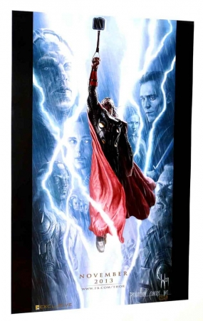 "Thor Movie 2013 SDCC Exclusive Promotional Poster 13 x 20"" Rolled"