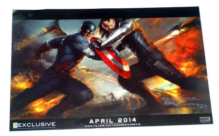 "Captain America Movie 2013 SDCC Exclusive Promotional Poster 13 x 20"" Rolled"