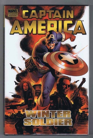 Captain America Winter Soldier Hardcover VF/NM Signed w/COA Steve Epting 2005 Marvel