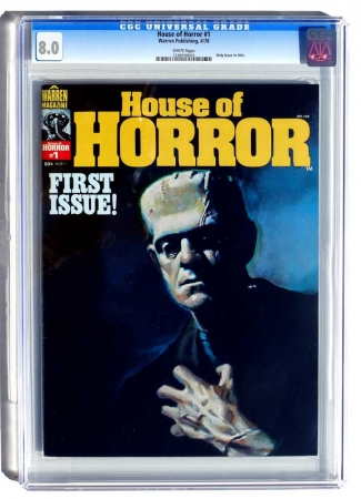 House of Horror #1 Magazine CGC 8.0 VF 1978 Very Rare Only 400-500 Copies Exist