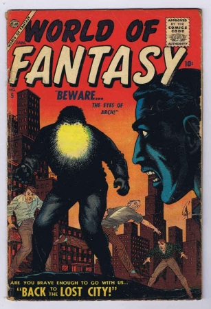 World of Fantasy #5 Good Complete Stories CP Early SA 1957 Atlas Comics