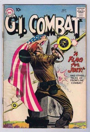 GI Combat #74 Flag Cover Good Complete Stories 1959 DC Comics Silver Age